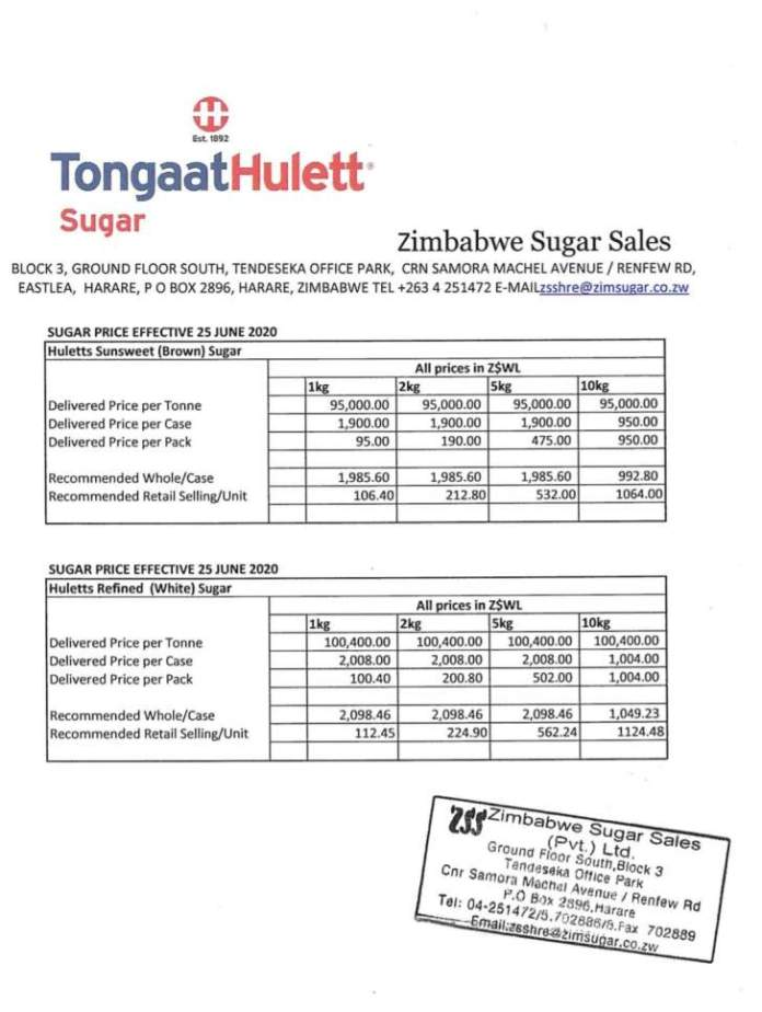 Price Of Sugar Goes Up Again In Zimbabwe