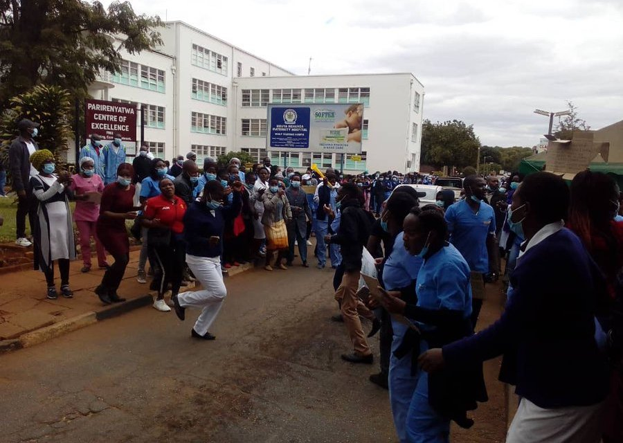 Zim Nurses And Doctors Protest