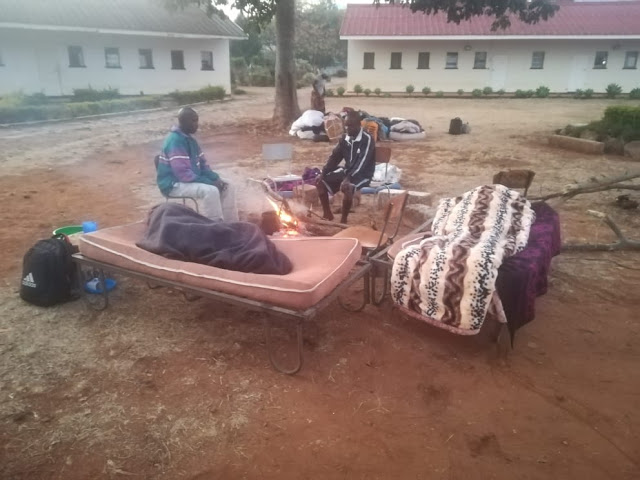 Quarantined Returnees Sleep Outside