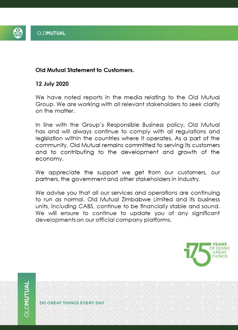 Old Mutual Speaks Following De-Listing Threats