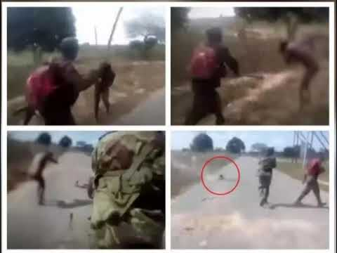 Mozambique Army Executing A Naked Woman