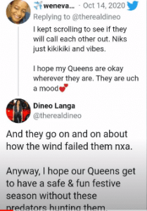 Dineo Langa Reacts To #JohnVuliGateChallenge On Twitter