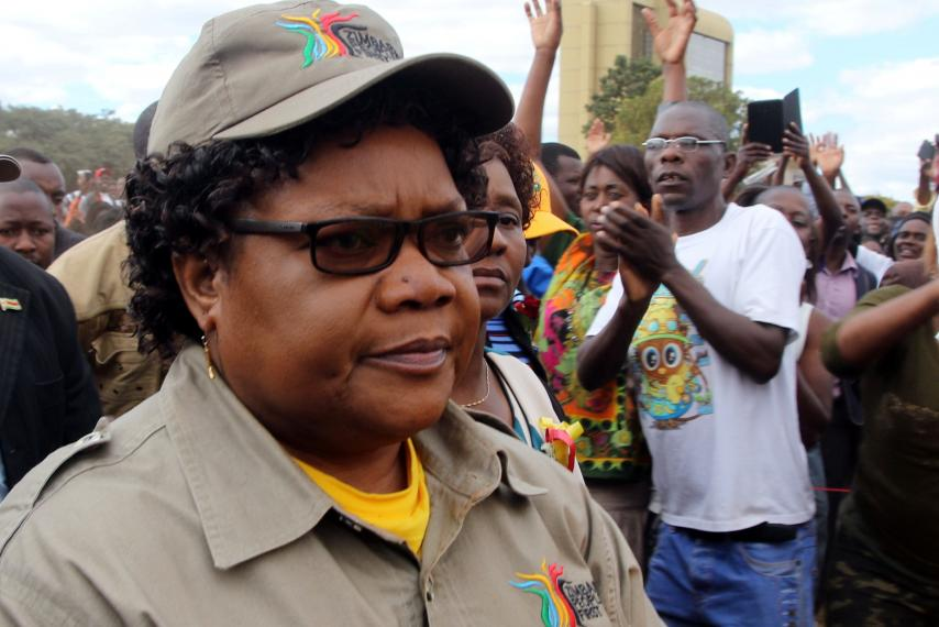Joice Mujuru. Mnangagwa said to want to replace Chiwenga with Joice Mujuru