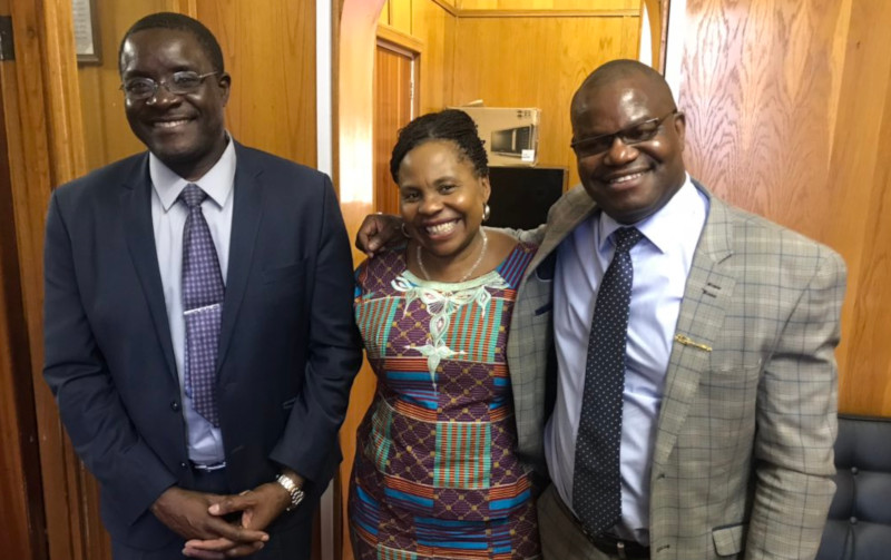 George Charamba (left), Monica Mutsvangwa (centre) and Nick Mangwana
