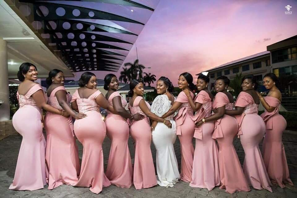 Bride and Bridesmaids flaunting it