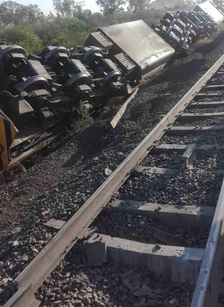 Broken rails after traic crash
