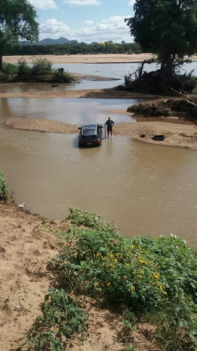Smuggled BMW Car Limpopo River