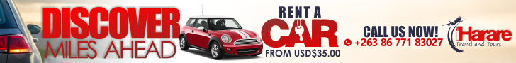 Iharare Car Rental Banner