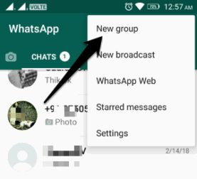 how to create a new whatsapp group