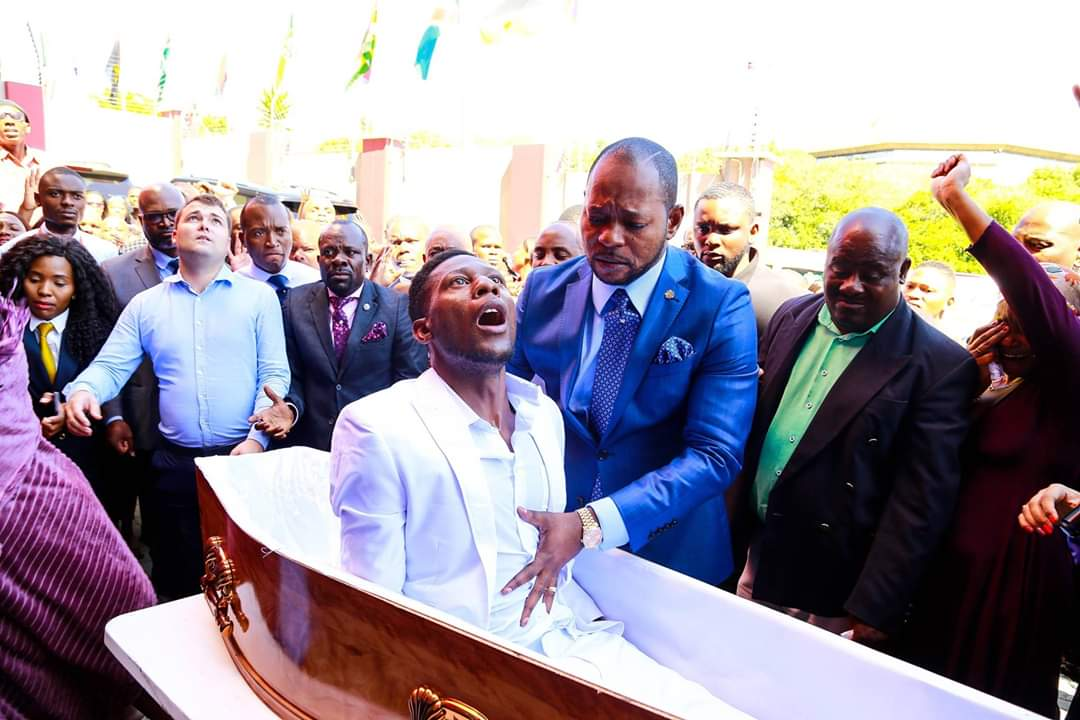 Tight security at Alleluia Ministries, but no sign of pastor Alph Lukau