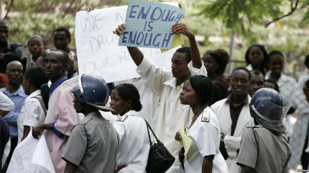 Doctors And Nurses Go On Strike In Zimbabwe
