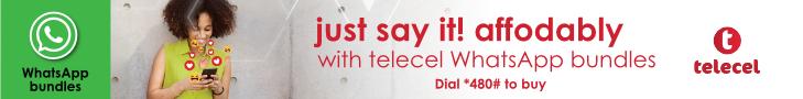 Telecel Whatsapp bundle campaign banner 3