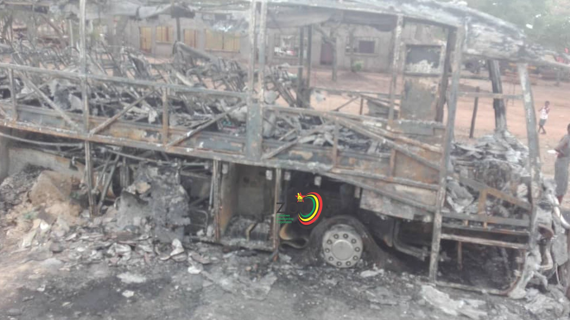 Cross Border bus burnt to ashes as mechanical fault sparks fire