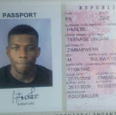 Teenage Hadebe gets news Passport
