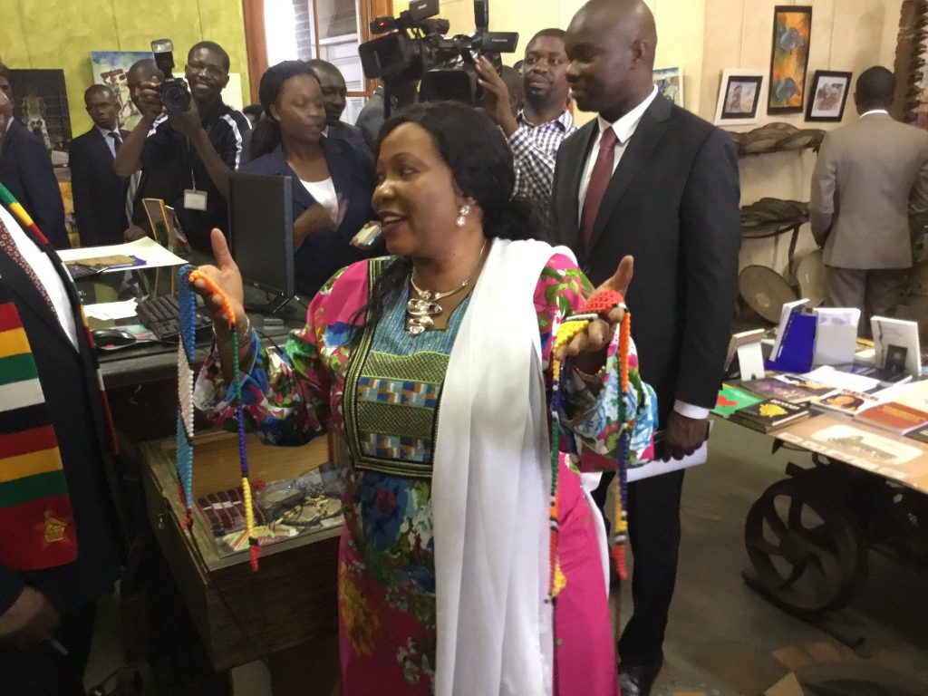Mnangagwa spoils wife
