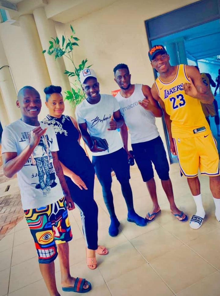Pokello thrills the Warriors with a 'surprise' visit