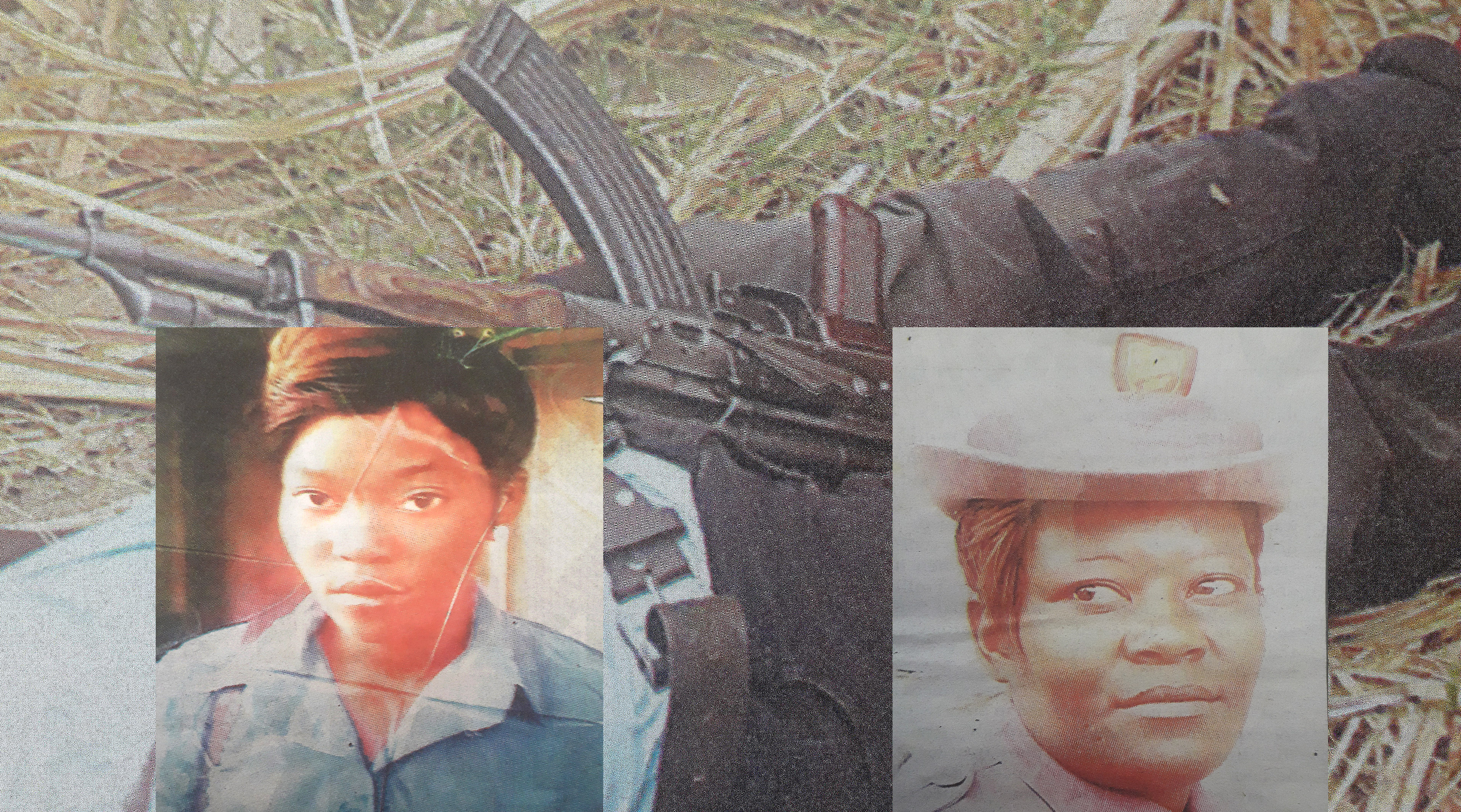 Evelyn Madawo (Left) and her mother Nomari Madawo.  They were gunned down by murderous soldier