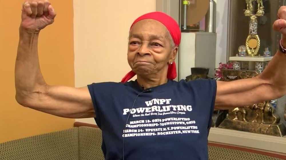 Female bodybuilder, 82, bashes home intruder using table, shampoo, broom
