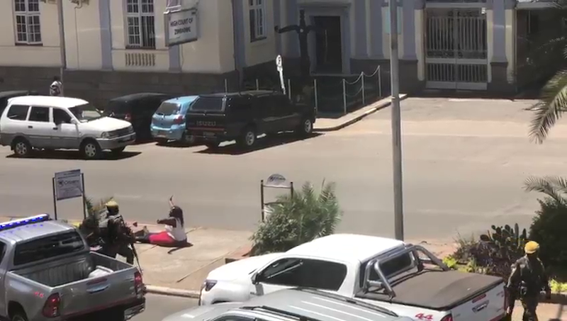 Woman Confronts Mnangagwa Motorcade
