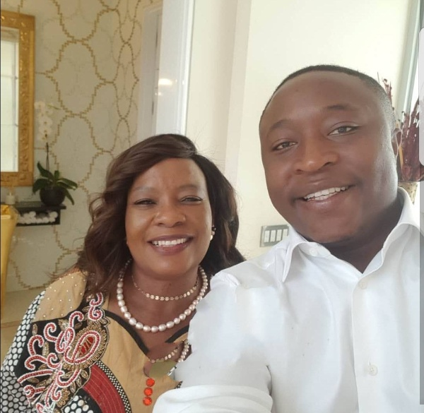First Lady shares photo with one of her twins