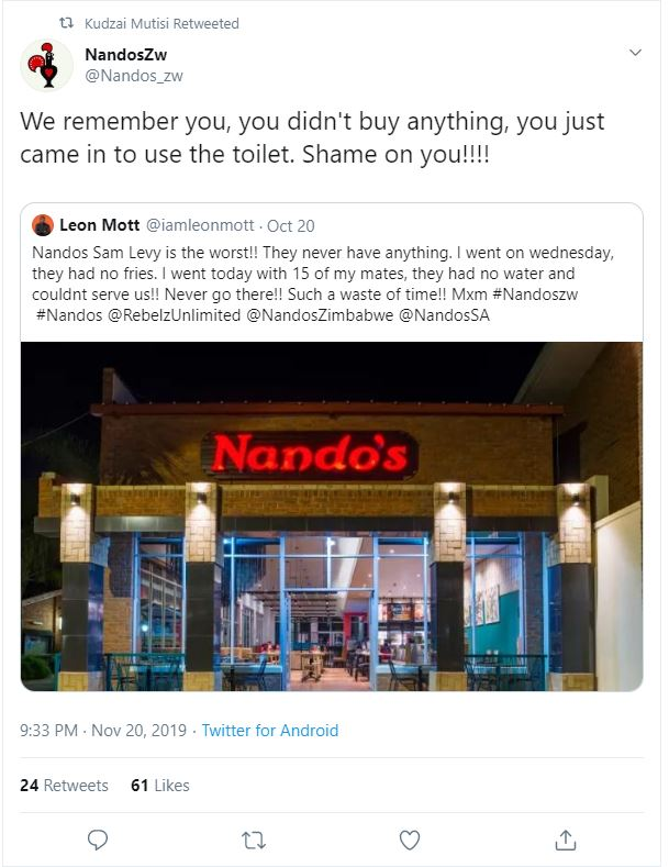 Why you Don't Mess with Nandos
