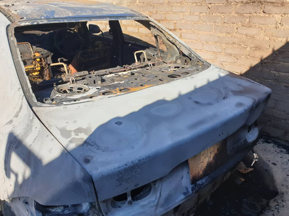 Masvingo MDC Councillor's car burnt to ashes