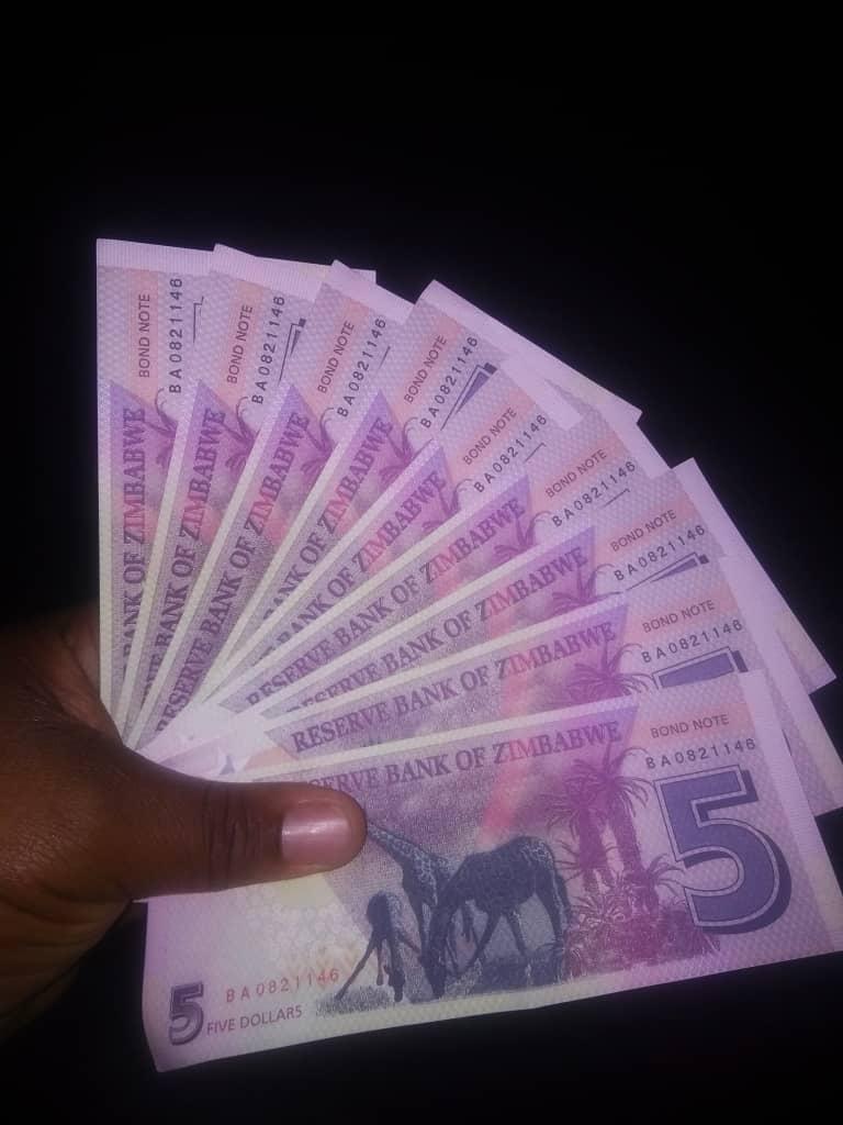 Fake $5 Bond Notes