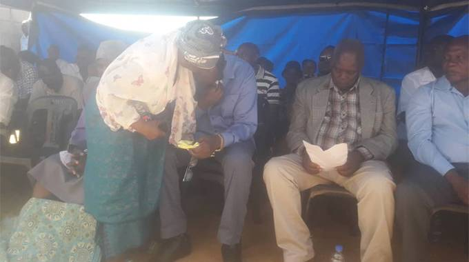 during the burial of his nephew