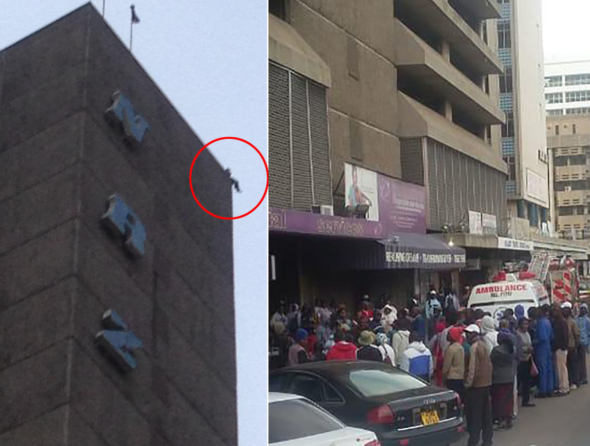 Man Saved From Jumping Off NRZ Building