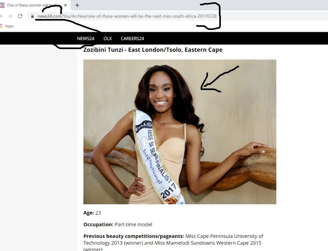 Miss Universe Zozibini is LYING