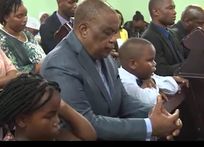 General Chiwenga at Church with his Children