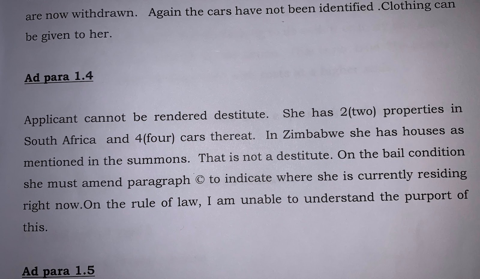 Chiwenga's Divorce Papers