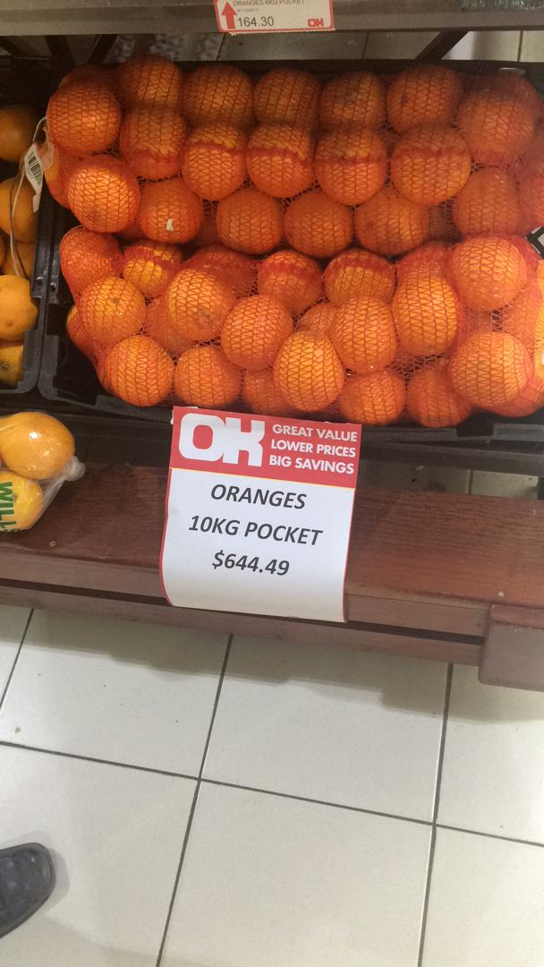 Outrageous Price Of Oranges In Zimbabwe