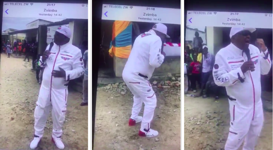 Phillip Chiyangwa Sings And Dances For Mnangagwa