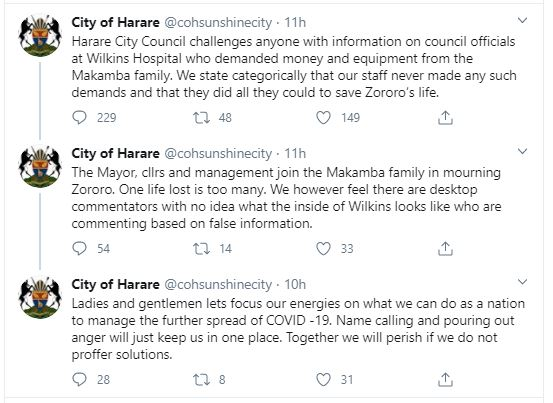 City of Harare Refutes Zororo Makamba Allegations
