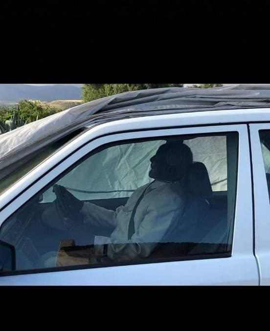 Dead man buried in his car