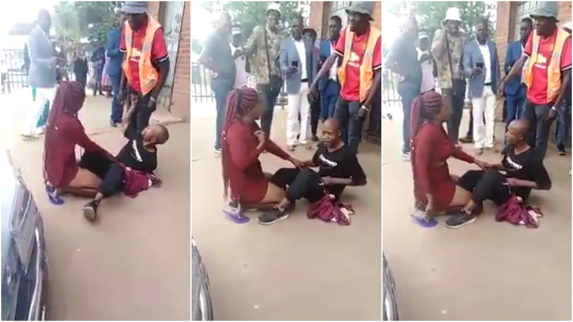 Man Humiliated By Thigh Vendor