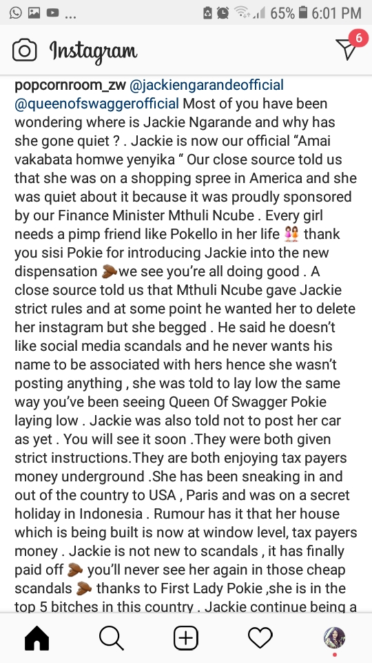 Mthuli Ncube Fumes After Jackie Ngarande 'Exposes' Affair