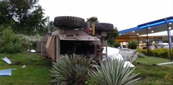 South African Army Truck Crashes