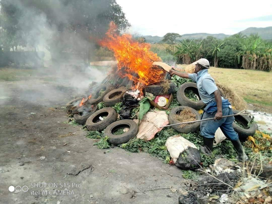 Police Confiscate and Burn Vegetables