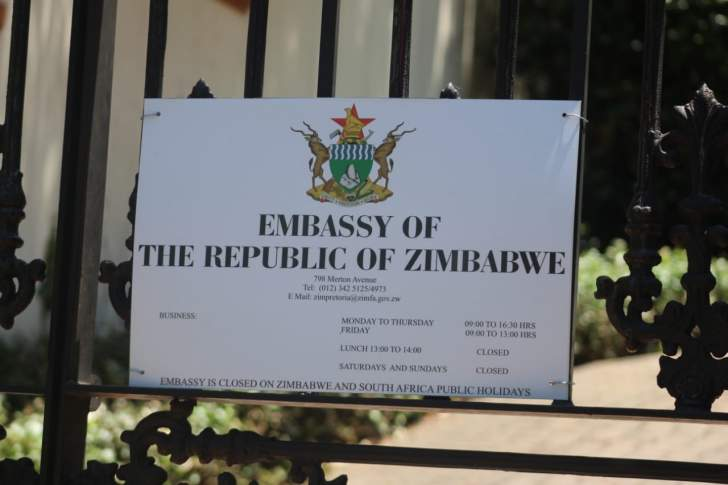 Zim Embassy To SA Releases Statement