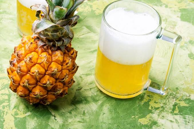 Easy Homemade Pineapple Beer Recipe With Three Ingredients.
