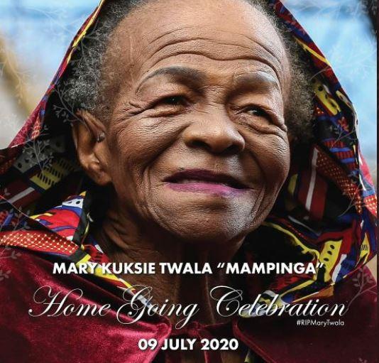 Somizi's Eulogy To Mary Twala
