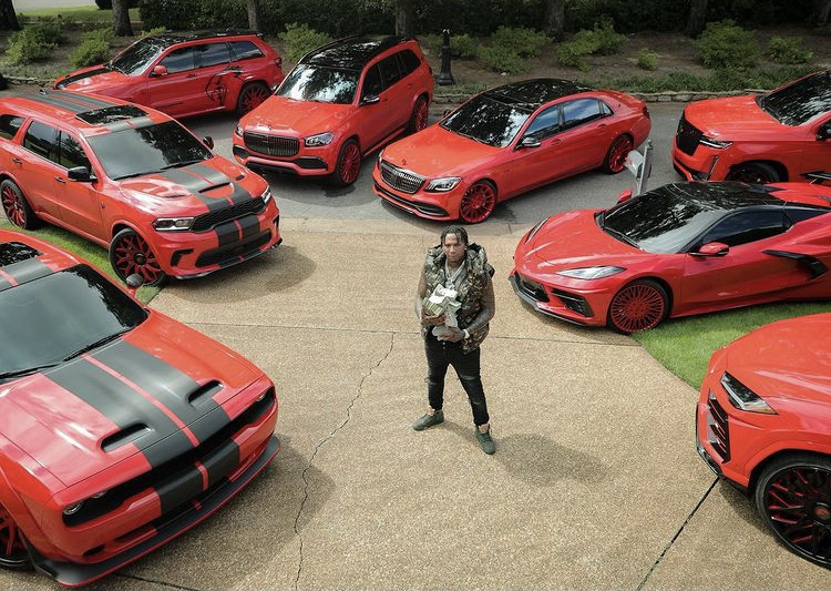 """""""I Had Nothing But F's On My Report Card"""" Rapper Says As He Flaunts His Luxurious Collection of Red Supercars - iharare.com"""
